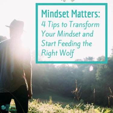 Mindset matters: 4 tips to transform and start feeding the right wolf