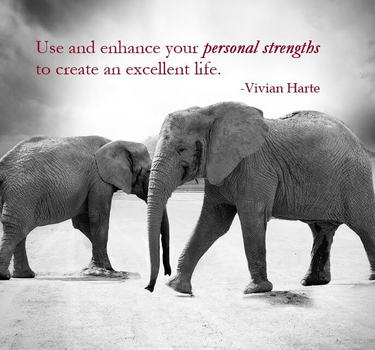 Use and enhance your personal strengths to create an excellent life.