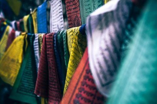 prayer flags colourful