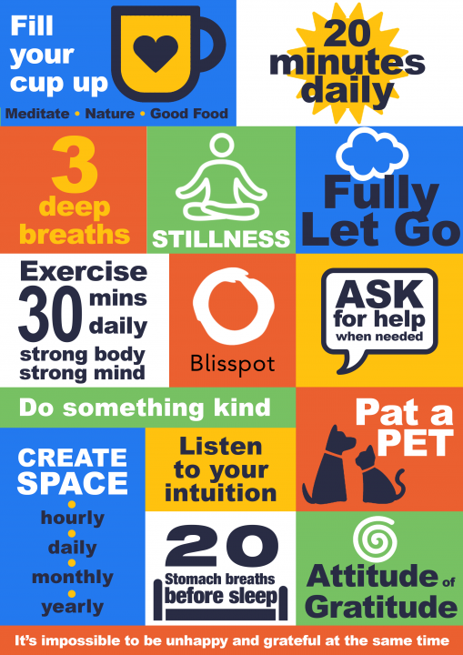 Stay strong and overcome stress infographic