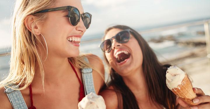 Happy Ladies with Ice-Cream