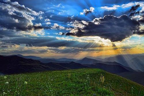 Sunshine and hills