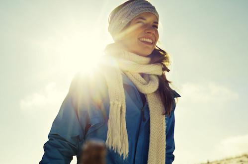 Woman Smiling in Sunshine
