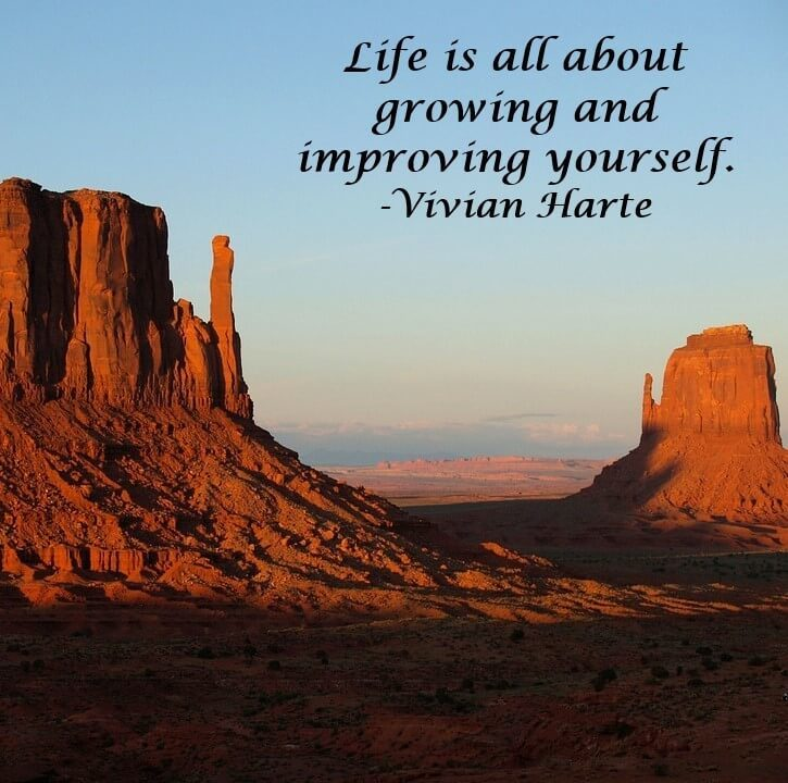Life is all about growing and improving yourself.