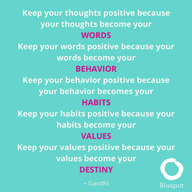 Keep you thoughts positive because your thoughts become your words.