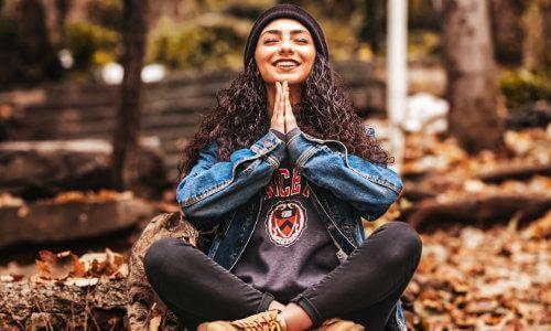 mediation, woman, nature