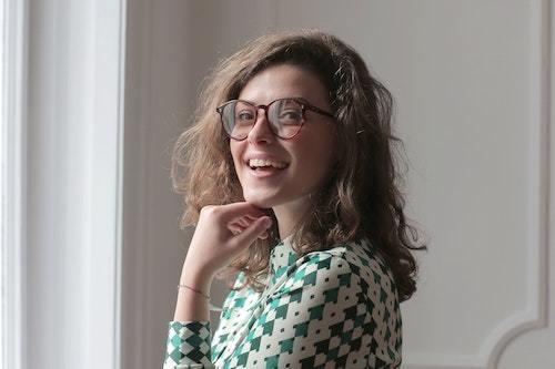 Girl in glassess smiling