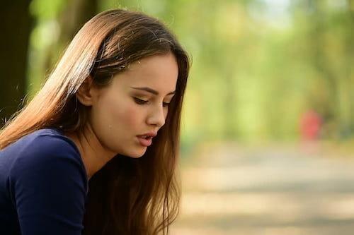 Woman, sad