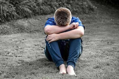 Boy, depressed