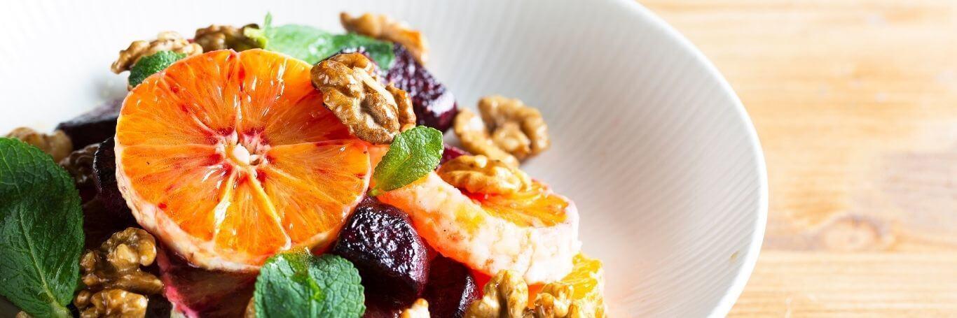 Orange, Mint, Fennel and Walnut Salad